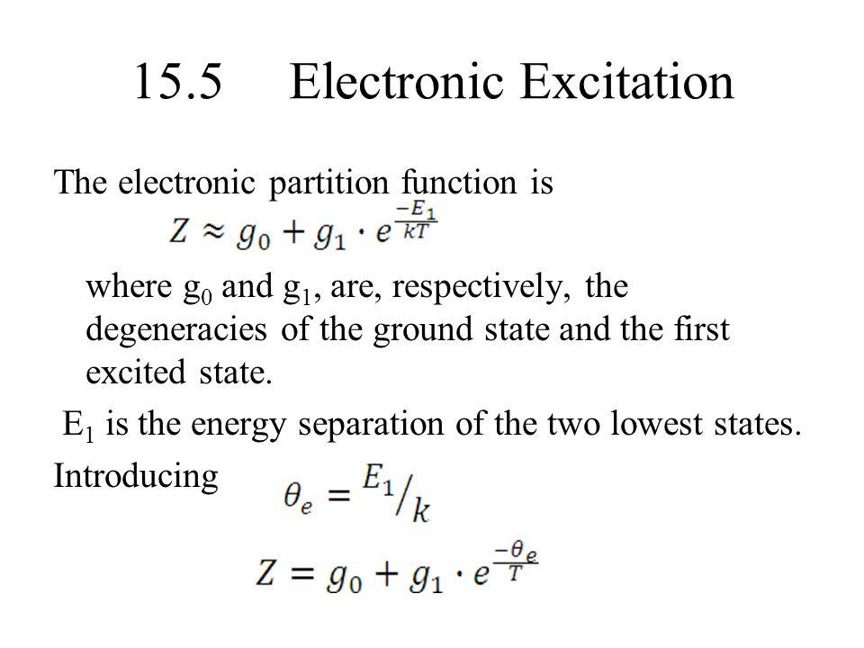 15.5 Electronic Excitation