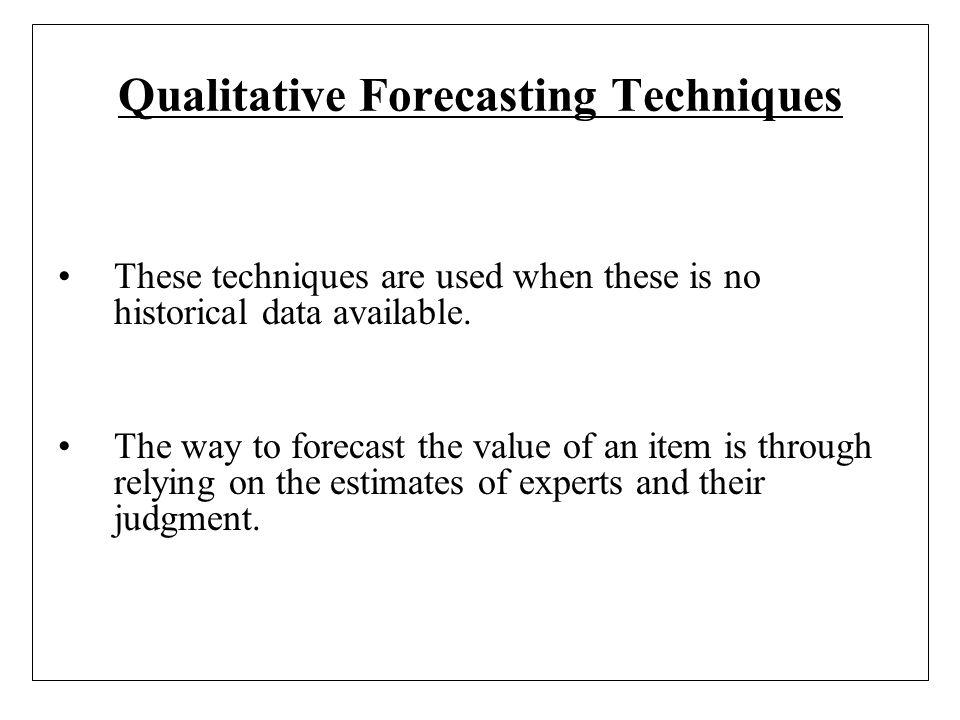 Qualitative Forecasting Techniques