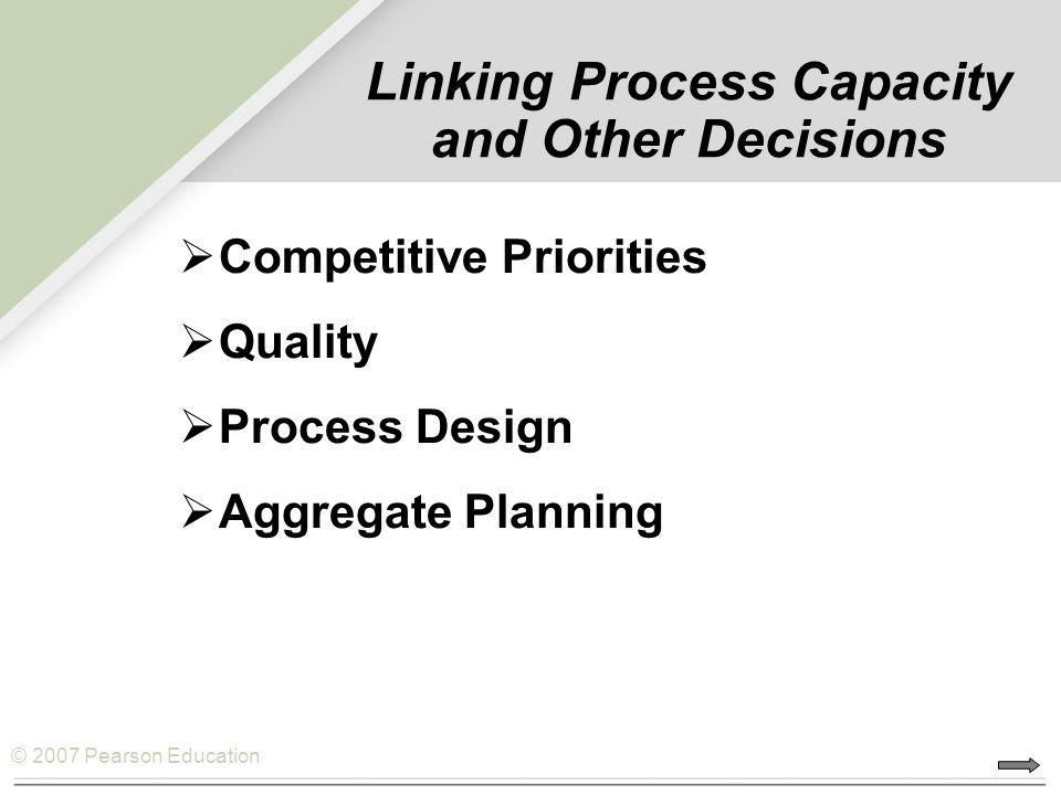 Linking Process Capacity and Other Decisions