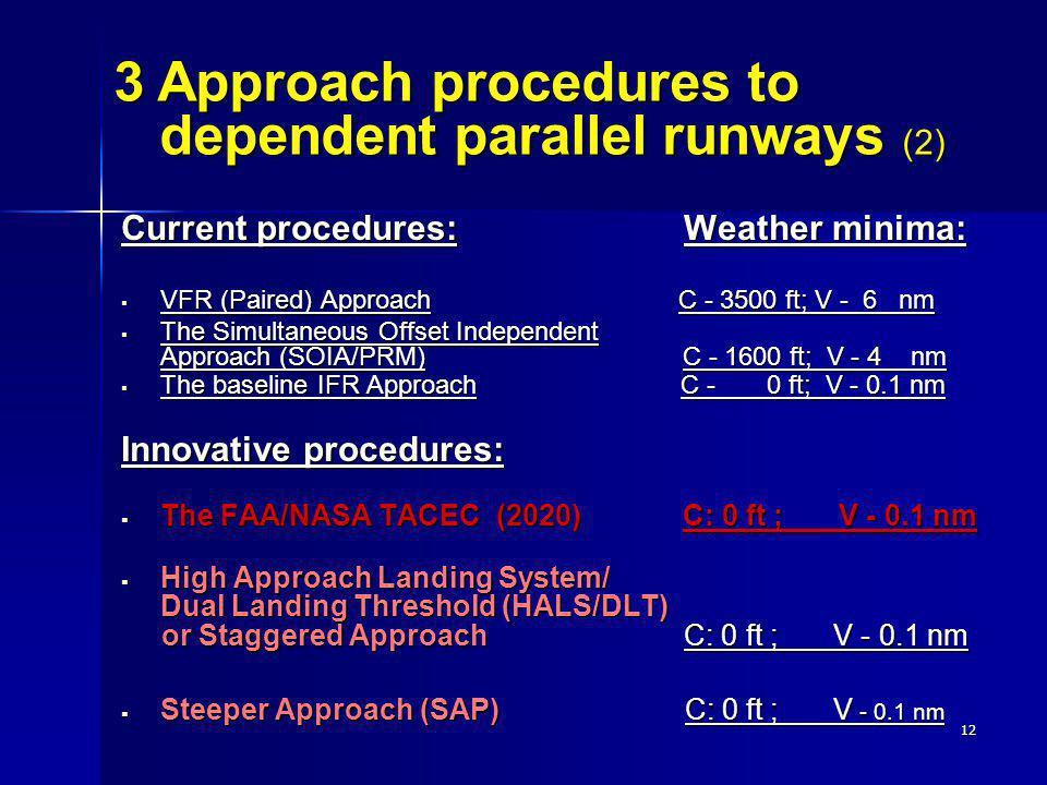 3 Approach procedures to dependent parallel runways (2)