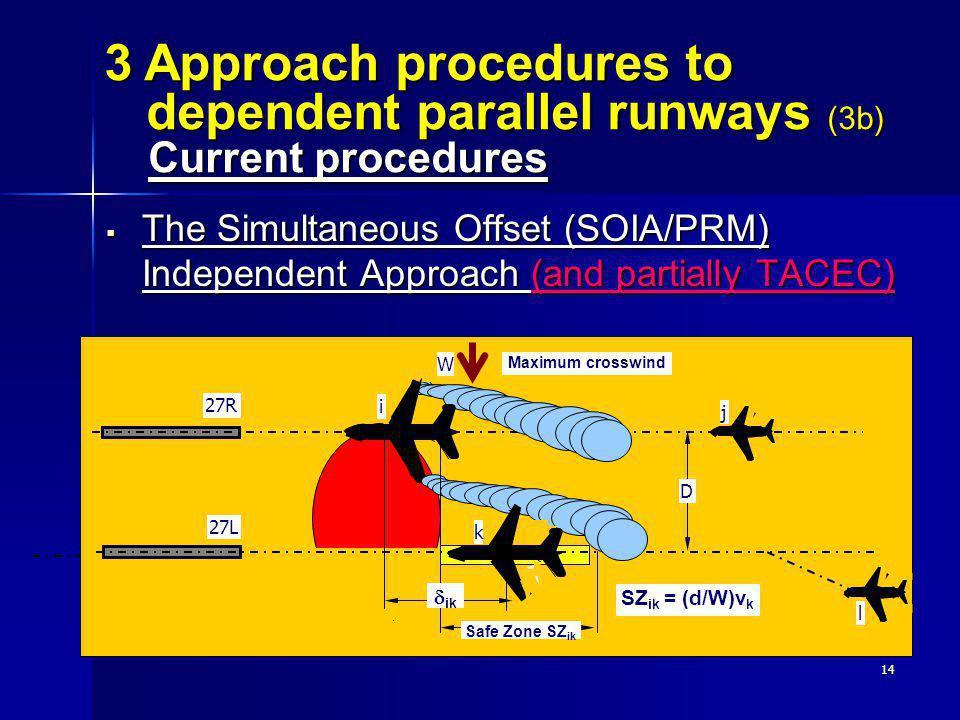 3 Approach procedures to dependent parallel runways (3b) Current procedures