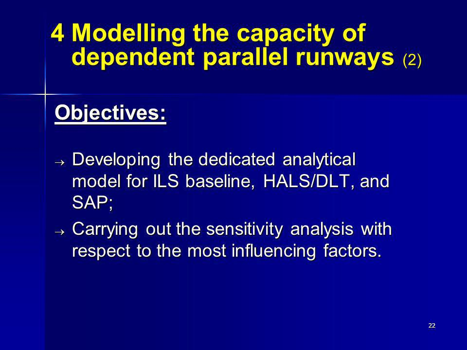 4 Modelling the capacity of dependent parallel runways (2)