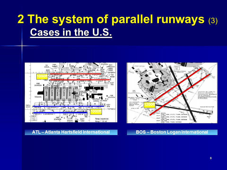 2 The system of parallel runways (3) Cases in the U.S.