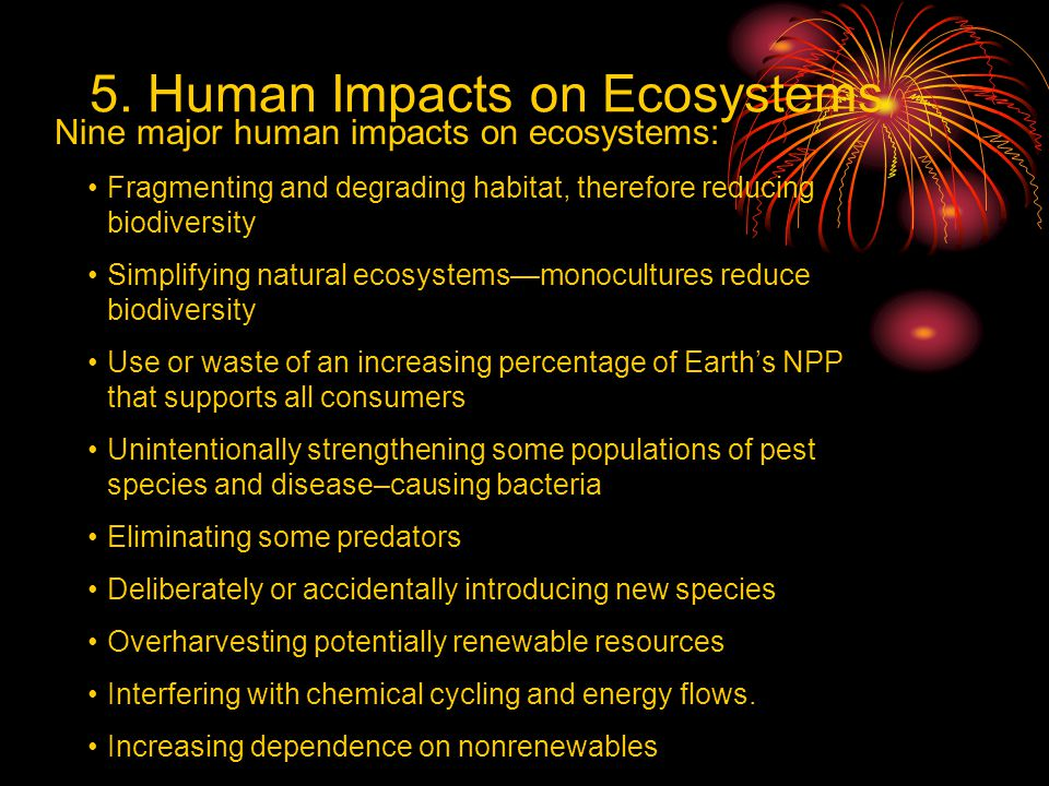 5. Human Impacts on Ecosystems