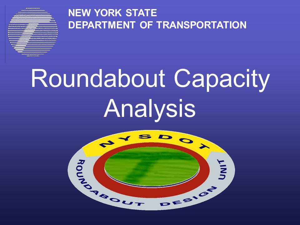 Roundabout Capacity Analysis