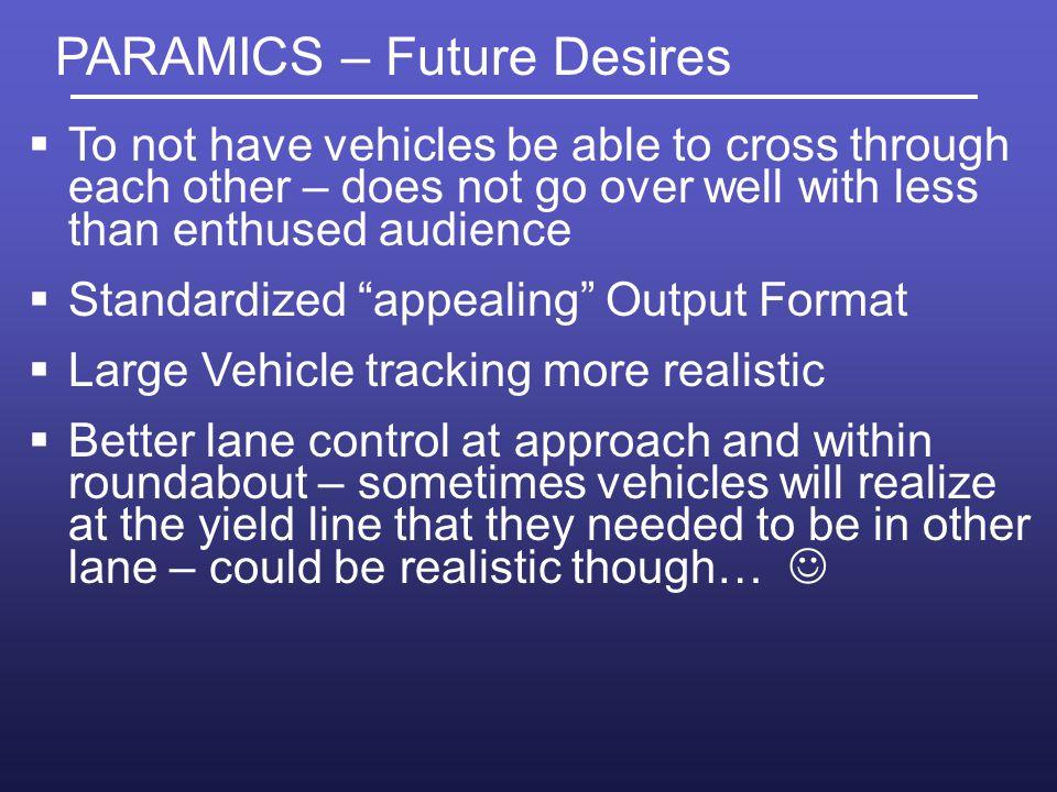 PARAMICS – Future Desires