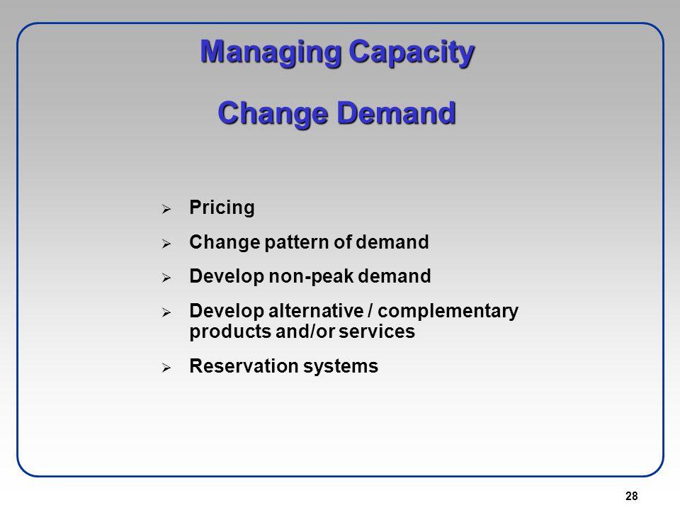 Managing Capacity Change Demand