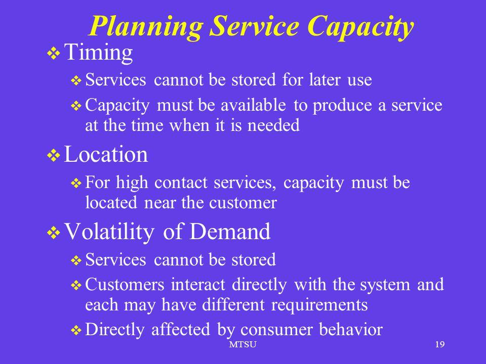 Planning Service Capacity