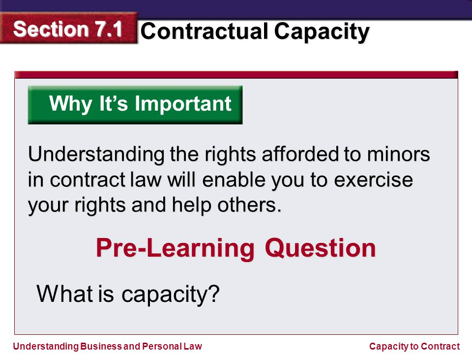 minors capacity to contract essay Contract law explained  formation and capacity usually a contract forms when one person makes an offer and another person accepts it by performing the offer's.