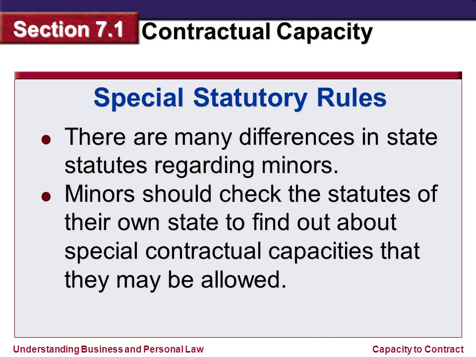 Special Statutory Rules