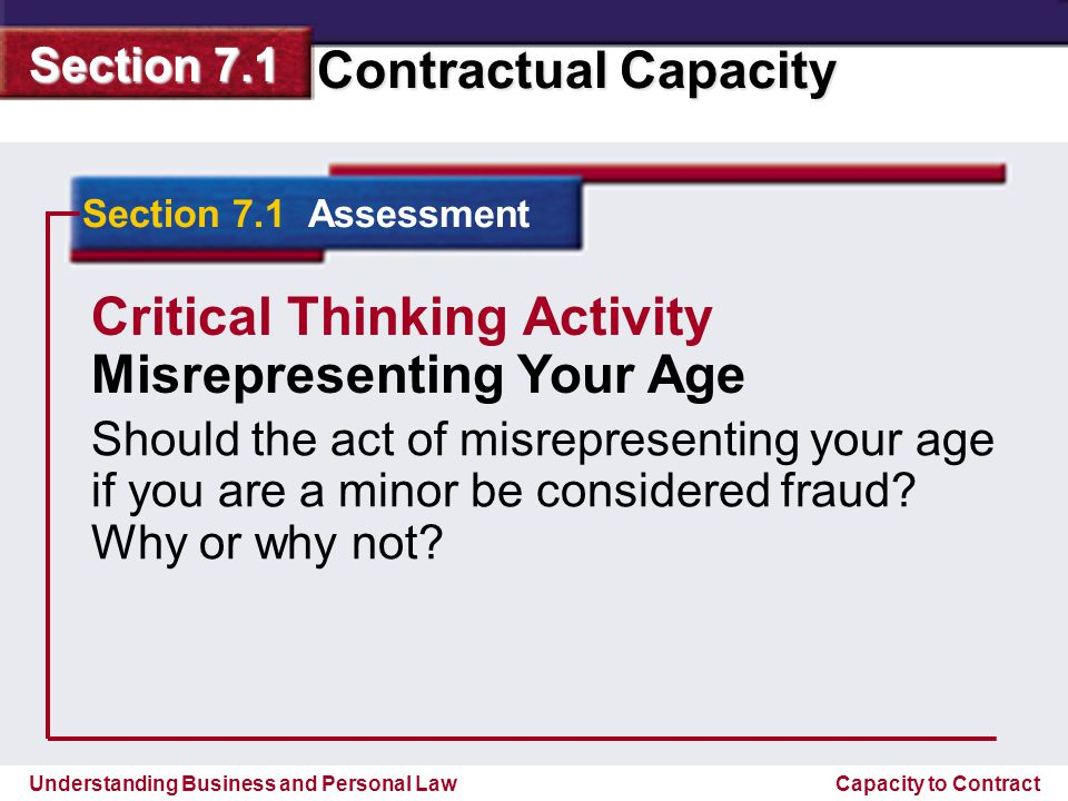 Critical Thinking Activity Misrepresenting Your Age