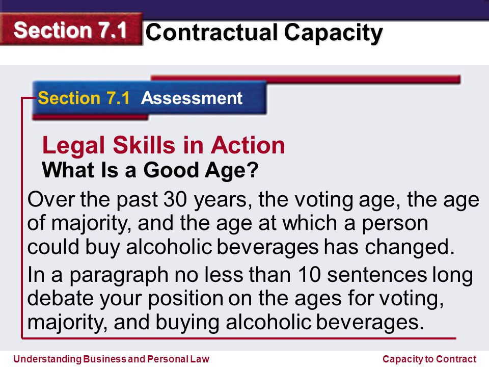 Legal Skills in Action What Is a Good Age
