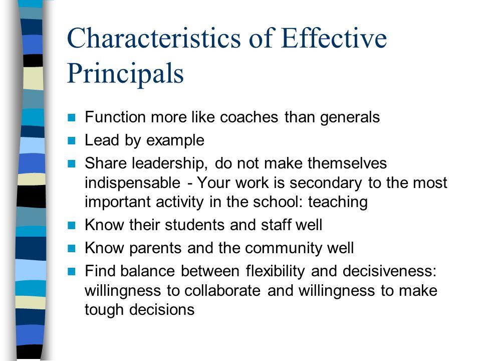 Characteristics of Effective Principals