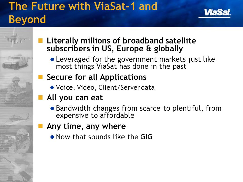 The Future with ViaSat-1 and Beyond