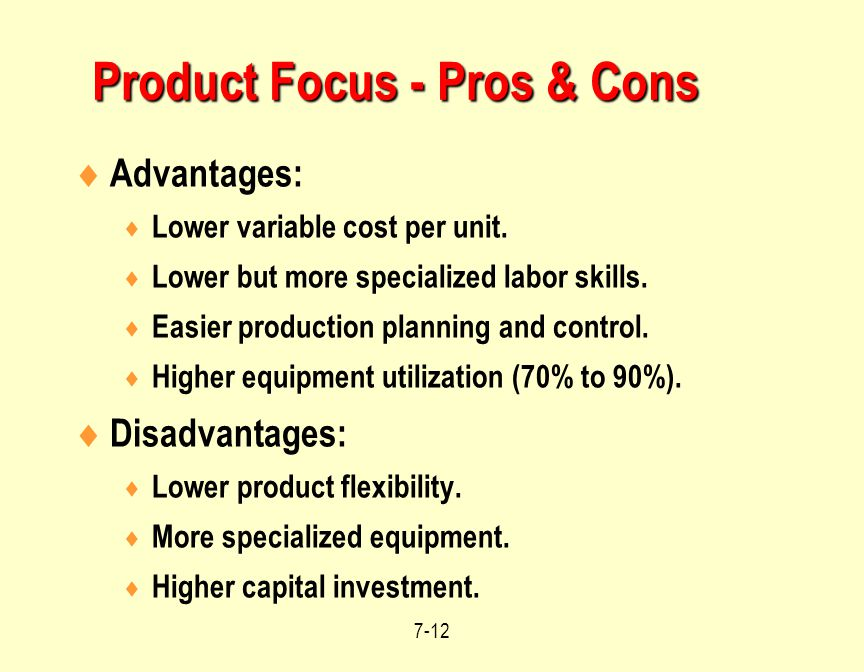 Product Focus - Pros & Cons