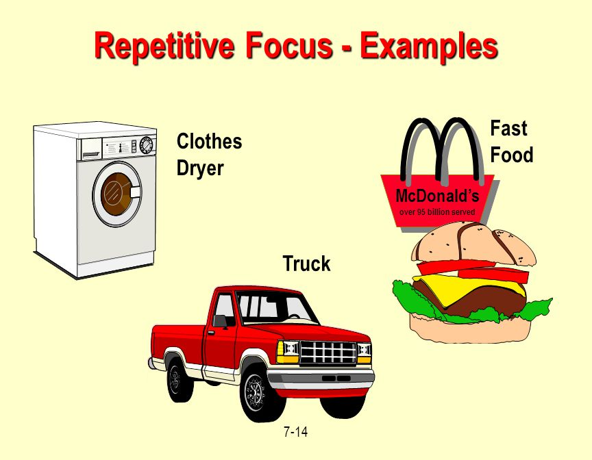 Repetitive Focus - Examples