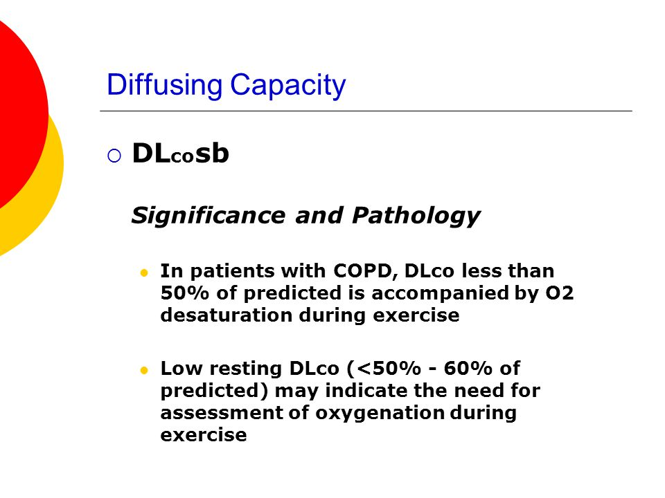 Diffusing Capacity DLcosb Significance and Pathology