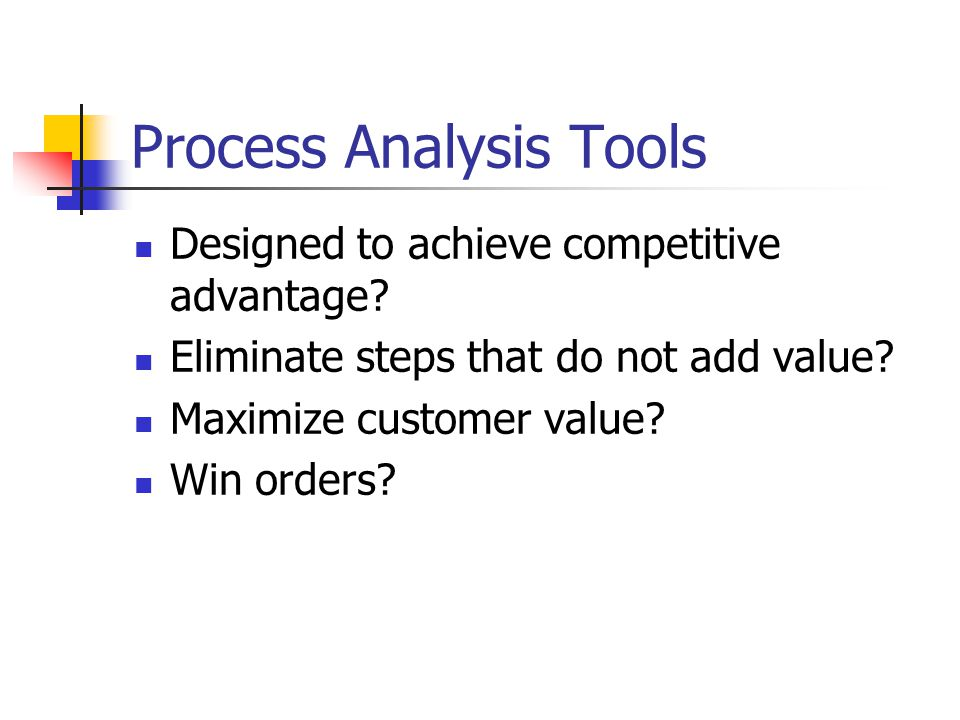 Process Analysis Tools