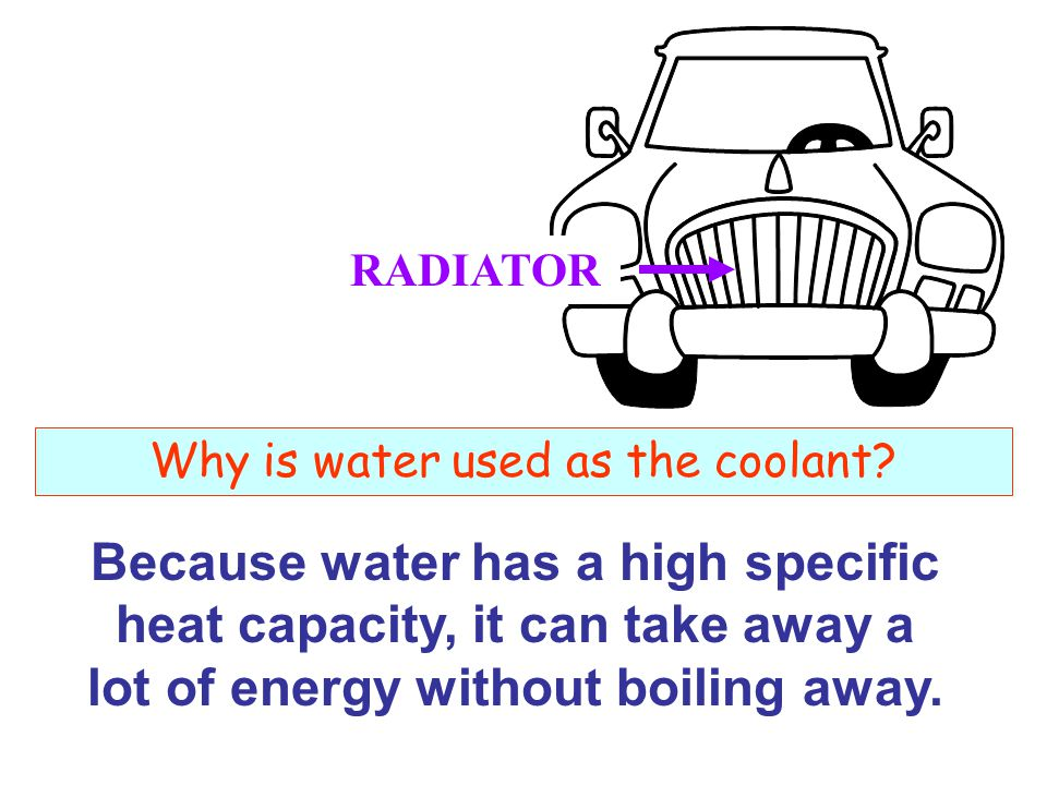 Why is water used as the coolant