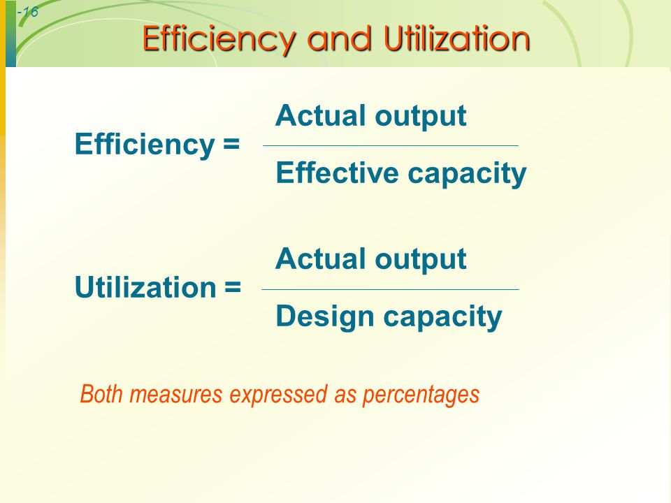 Efficiency and Utilization