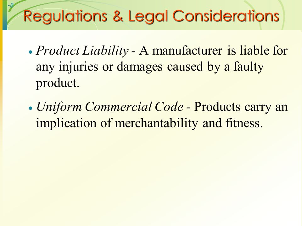Regulations & Legal Considerations