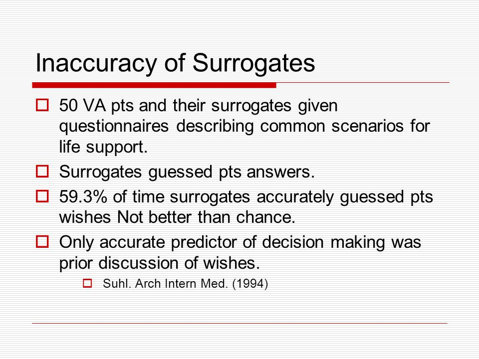 Inaccuracy of Surrogates