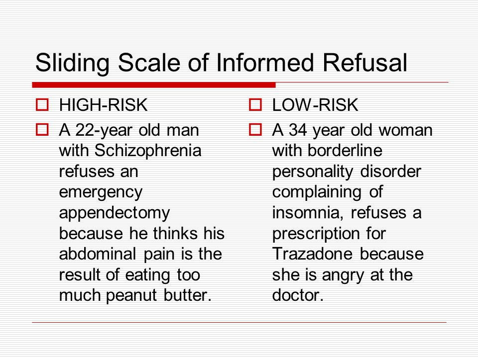 Sliding Scale of Informed Refusal