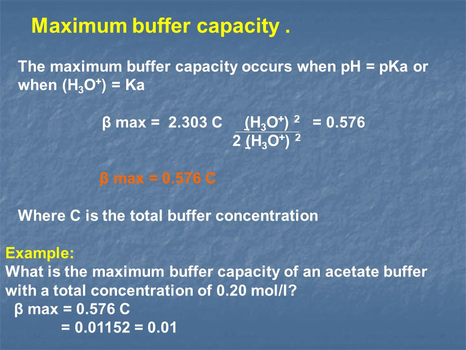 Maximum buffer capacity .