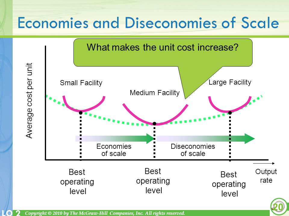 economies of the scale plant size economics essay In economics, returns to scale and economies of scale are related but  due to a given increase in size (scale) while economies of scale show the.