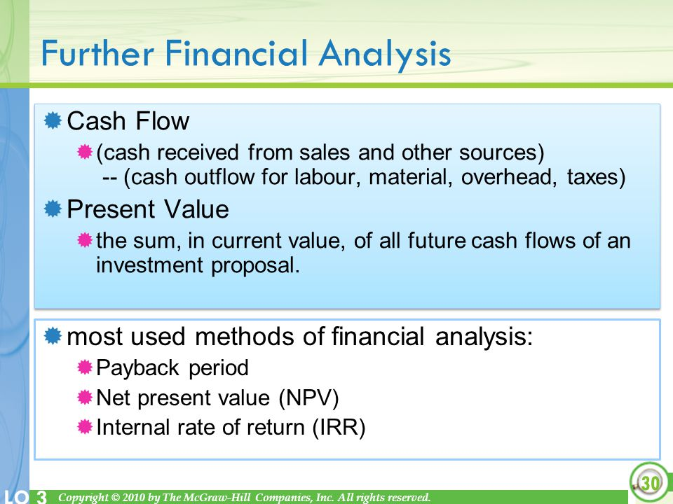 Further Financial Analysis