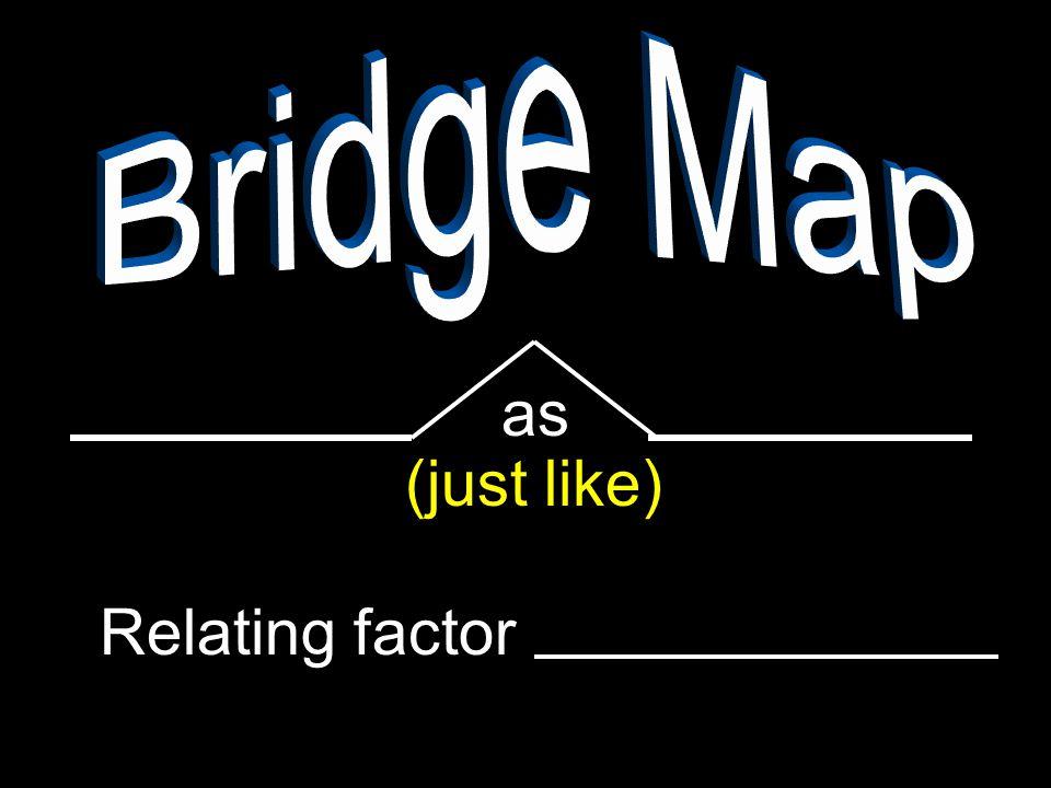 Bridge Map as (just like) Relating factor
