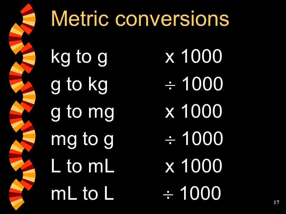 The metric system mass capacity ppt video online download - How to convert liter to kilogram ...