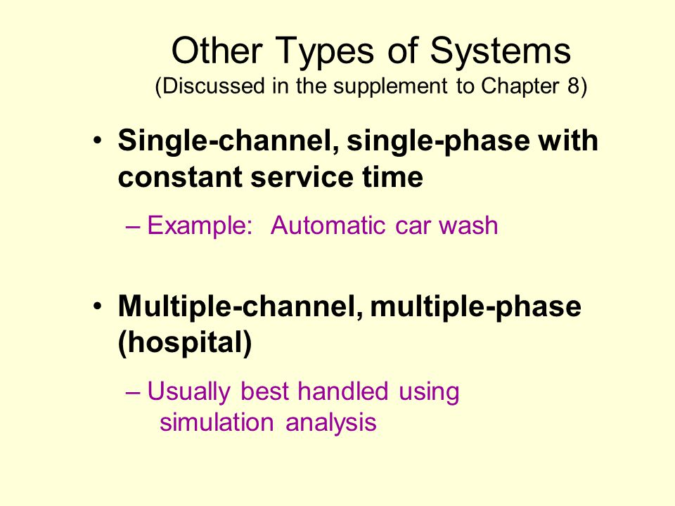 Other Types of Systems (Discussed in the supplement to Chapter 8)