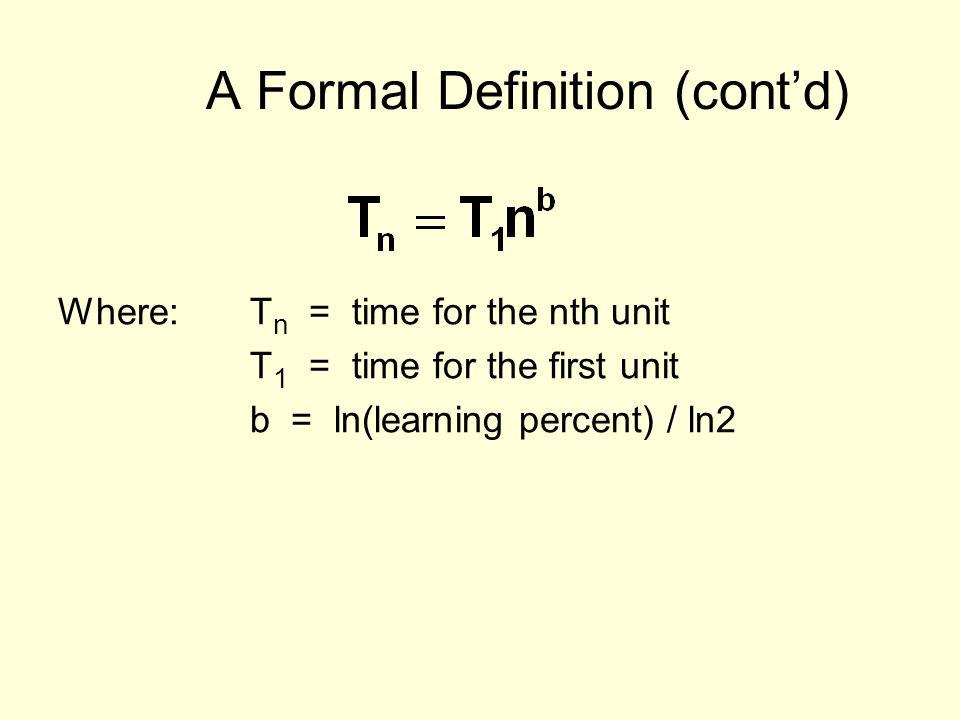 A Formal Definition (cont'd)