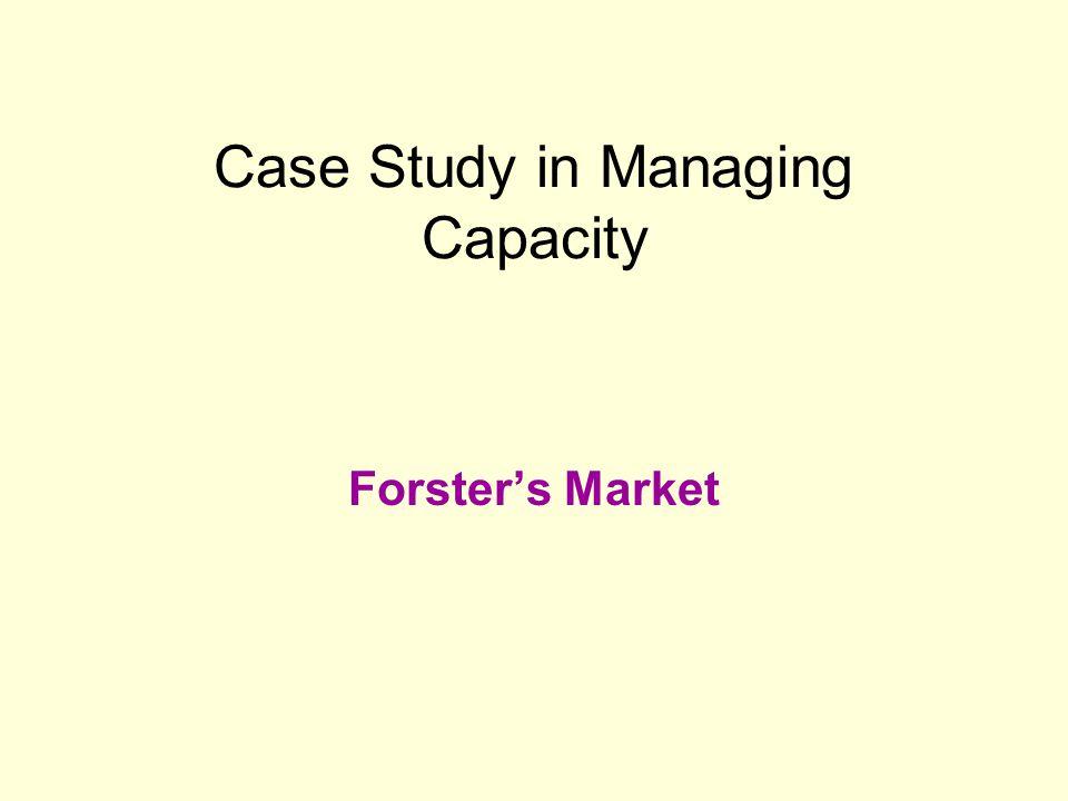 Case Study in Managing Capacity