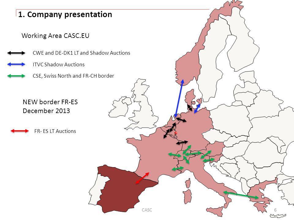 1. Company presentation Working Area CASC.EU