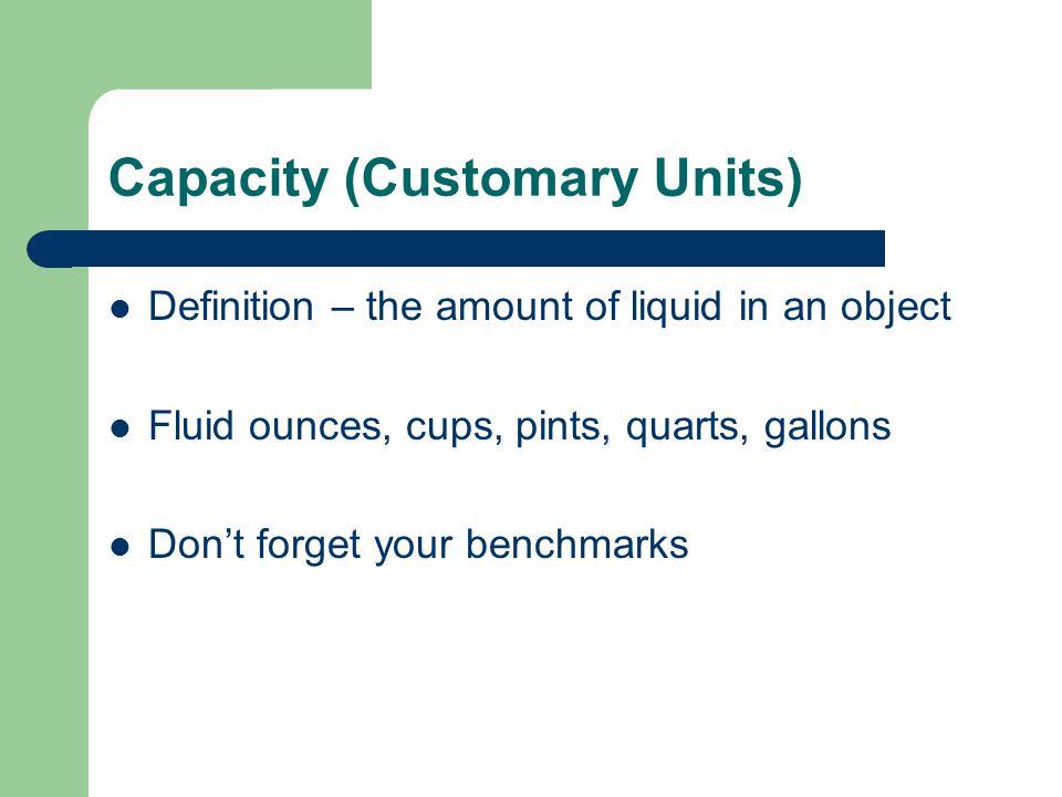 Capacity (Customary Units)