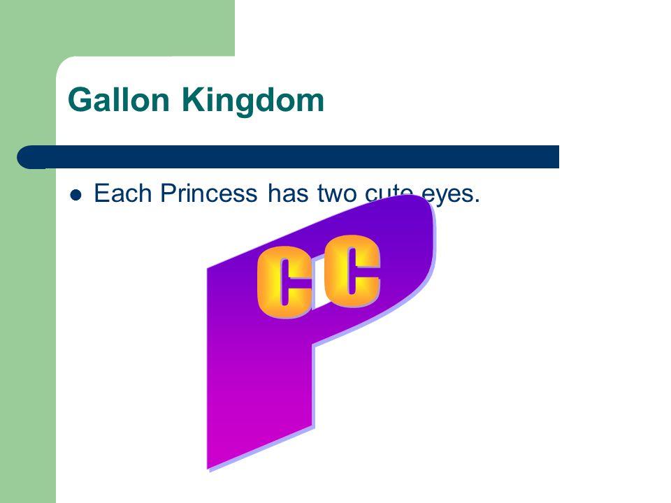 Gallon Kingdom Each Princess has two cute eyes. P C C