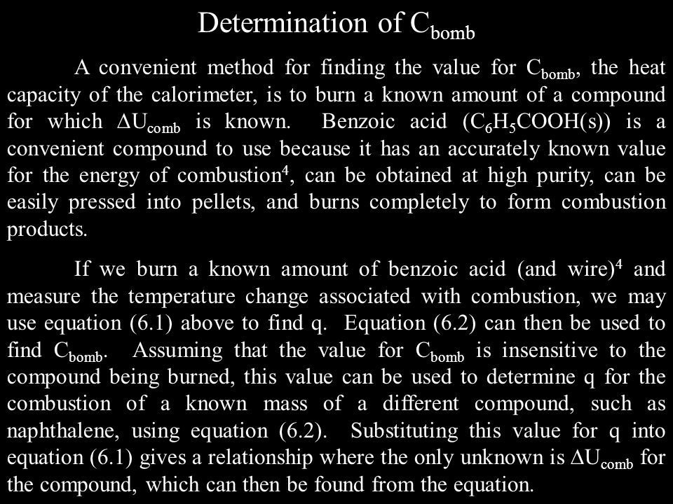 Determination of Cbomb