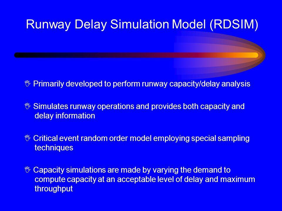 Runway Delay Simulation Model (RDSIM)