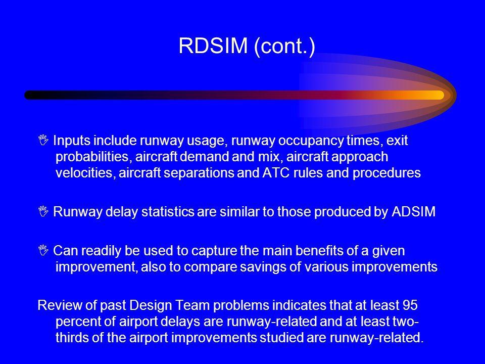 RDSIM (cont.)