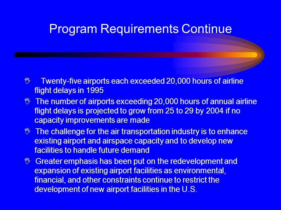 Program Requirements Continue