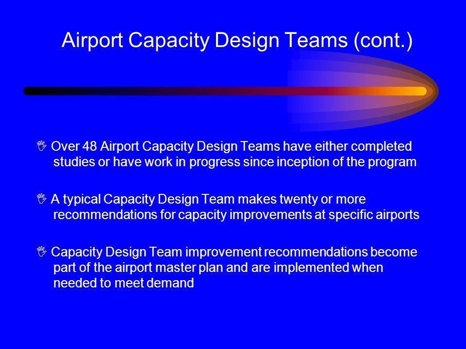 Airport Capacity Design Teams (cont.)