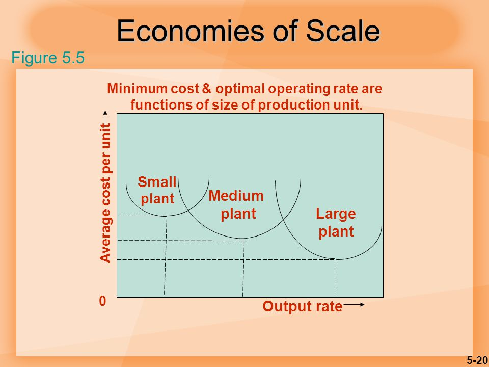 Economies of Scale Figure 5.5 Small Medium plant Large plant