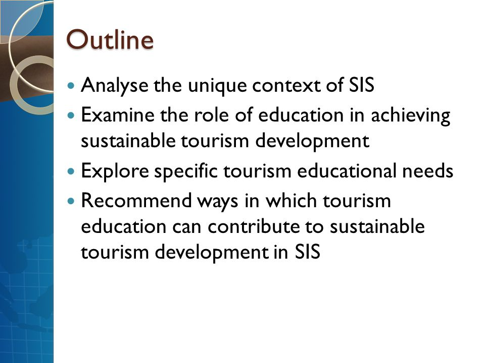 Outline Analyse the unique context of SIS