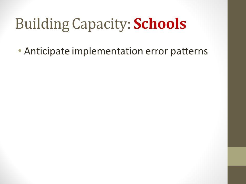 Building Capacity: Schools