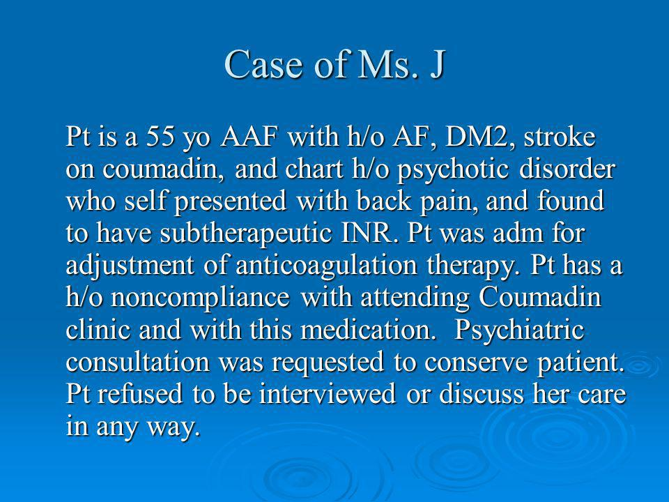 Case of Ms. J