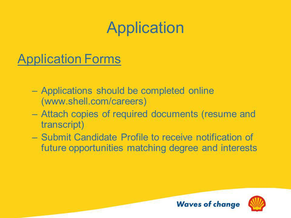 Application Application Forms
