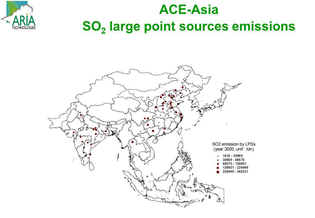 SO2 large point sources emissions