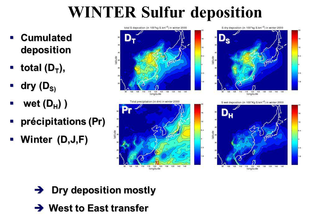 WINTER Sulfur deposition